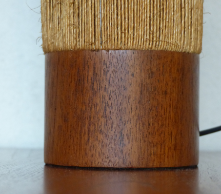 Et Poser Corde Design À Lampe Teck Artamp; 2WHIE9D